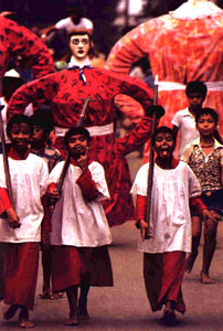 procession of kids